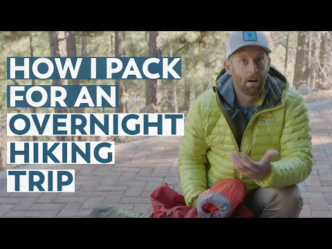 How I Pack My Backpack For An Overnight Hiking Trip