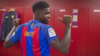 BEHIND THE SCENES: Samuel Umtiti's presentation as a new FC Barcelona player