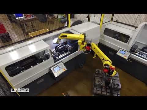 Fertigungszelle für Gewehrlaufrohlinge mit Automatisierung