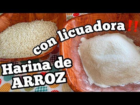 CÓMO HACER HARINA DE ARROZ CON LA LICUADORA EN CASA