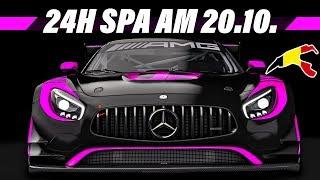 24 Stunden Livestream Ankündigung | 24h Spa Rennen | Assetto Corsa Multiclass Stream Gameplay German