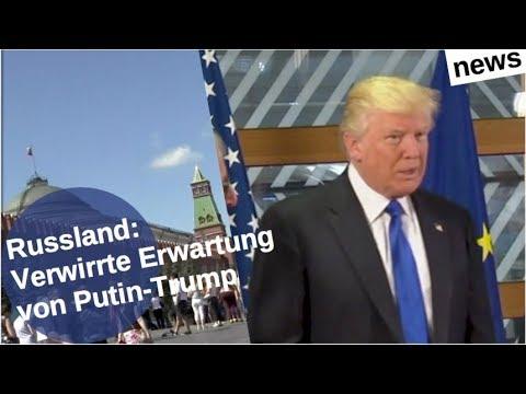 Russland: Trump verwirrt vor Putin-Gipfel [Video]