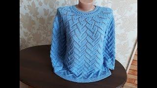 Пуловер спицами (круглая кокетка). Часть 11.