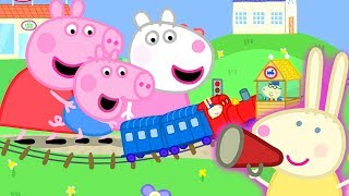 Peppa Pig Official Channel | Peppa Pig Meets Mini Miss Rabbit at the Tiny Land