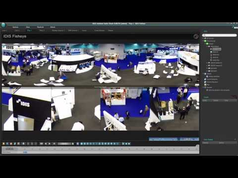 Панорамная купольная IP-видеокамера DC-Y1513(W). Демонстрация возможностей работы под управлением ПО IDIS Center