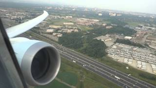 Air Canada Boeing 787 take off from Toronto YYZ airport