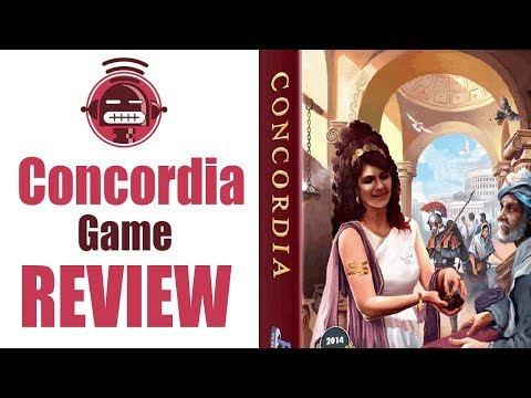 Concordia board game review on Demented Robot Games yt channel