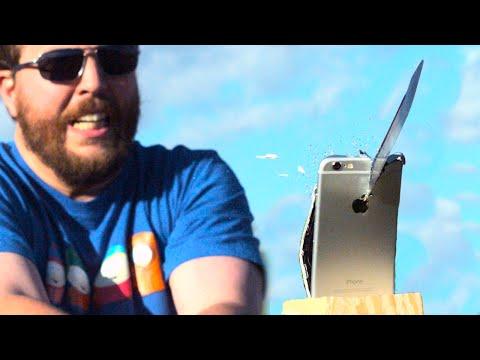 刀砍iPhone!這台階很了吧。最後還能用嗎?
