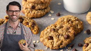 healthy oatmeal choc chip cookies recipe