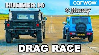 Hummer H1 vs Suzuki Jimny - DRAG RACE *USA 🇺🇸 vs Japan 🇯🇵 *