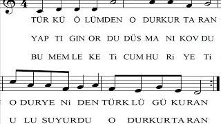 Türkü Ölümden Odur Kurtaran Atatürk Şarkısı Şarkı Sözü Şarkının Notası