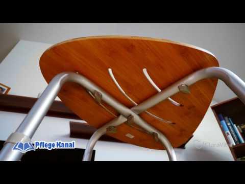 Badhocker mit Bambussitzfläche