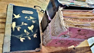 How to Make a Big Book How to Make a Junk Journal Tome Part1 Step by Step DIY Tutorial for Beginners