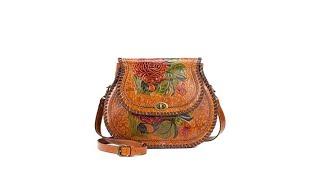 Patricia Nash Arezzo Tooled Leather Saddle Bag