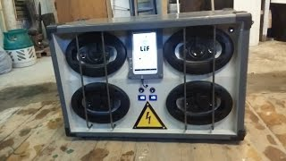 Portable DIY festival Boombox with Android Tablet - 4x100w