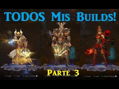 Diablo 3 RoS PS3/Xbox 360 - Explaining ALL My Builds Part 2/3