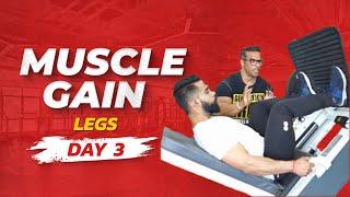 Full Week Workout Plan For Muscle Gain   Day 03 - Legs   Yatinder Singh