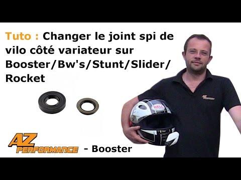 Changer le joint spy de vilebrequin coté variateur de son Booster / Stunt / Rocket / ...