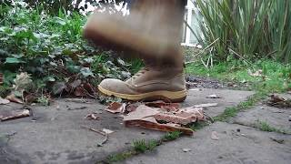 Old Work Boots (For Sale) - Toy Tank Stomp Crush Destroy