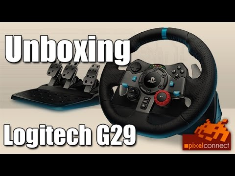 PS4 Unboxing Logitech G29 Lenkrad + PS4-Check