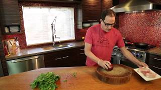 10 Minute Pork Chop with Sautéed Swiss Chard recipe by SAM THE COOKING GUY