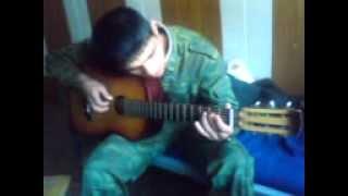 КАВКВЗЕЦ (вот так нужно играть на гитаре ) армия ищет талантов  армейские будни