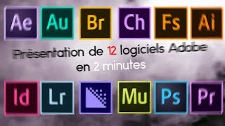 PRÉSENTATION des LOGICIELS ADOBE en 2 MINUTES