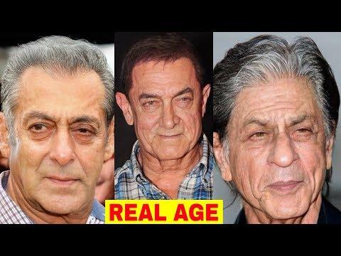 Real Age of Top 15 Bollywood Actors - Salman Khan, Shahrukh Khan, Aamir Khan