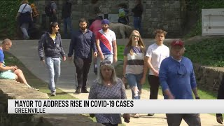 Mayor to address rise in COVID-19 cases in Greenville