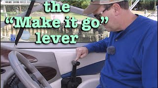 Boat throttle controls - how they work. Using a boat shifter