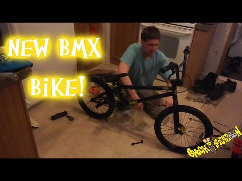 Unboxing and assembling my new framed attack XL BMX bike!