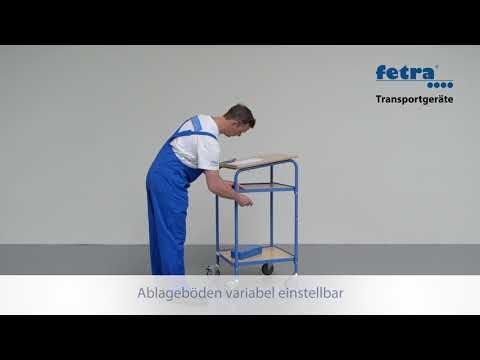 Fetra Rollpult mit 2 Ablageböden und Schreibpult-Aufsatz-youtube_img