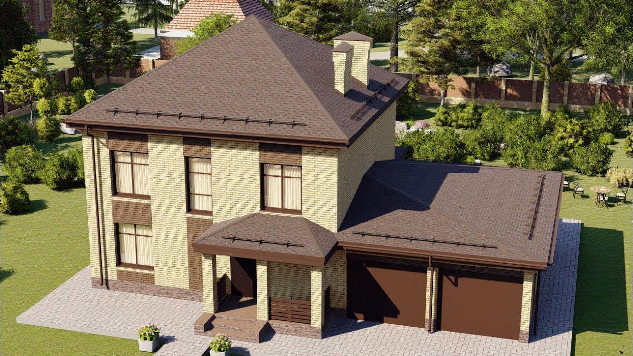 Проект дома 201-A, Площадь дома: 201 м2, Размер дома:  15,5x9,8 м