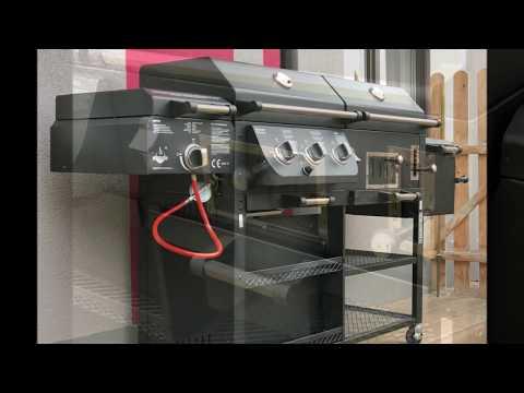 El Fuego ® 4 in 1 Kombigrill Arizona Schwarz Smoker Griller Gas