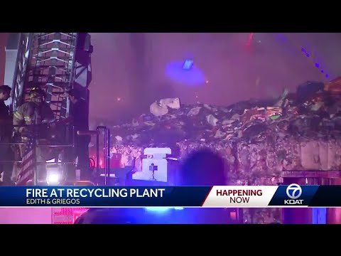 Fire breakouts at recycling plant