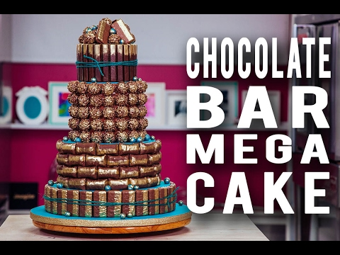 How To Make A CHOCOLATE BAR MEGA CAKE! Loaded Inside & Out With Your FAVE Chocolate Pieces!