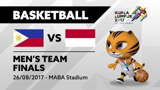KL2017 29th SEA Games | Men's Basketball - FINALS - PHI 🇵🇭 vs INA 🇮🇩 | 26/08/2017