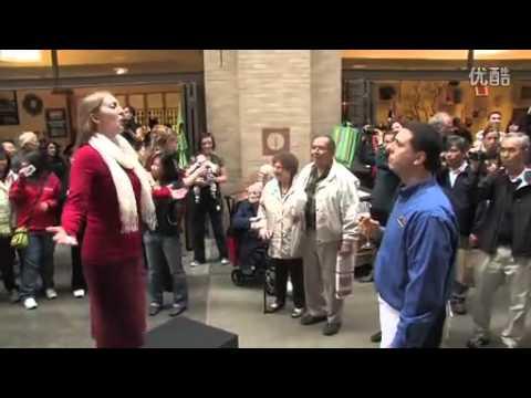 美丽又温柔||背景音乐:《茶花女》饮酒歌在旧金山街闪唱(Youtube) ...