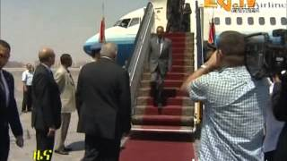 Eritrean President back home concluding working visit to Egypt