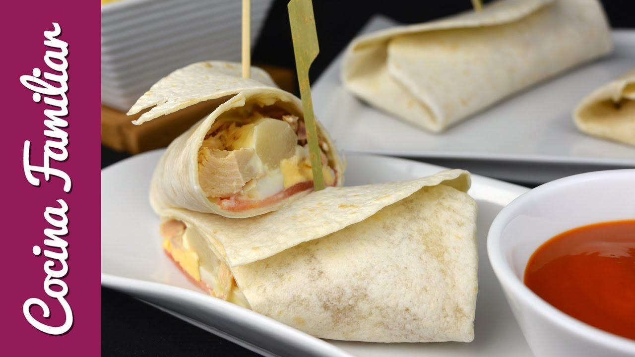 Burrito de verduras con atún | Javier Romero