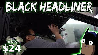 Painting The Interior Headliner Black   PART 2 : Gutted RSX