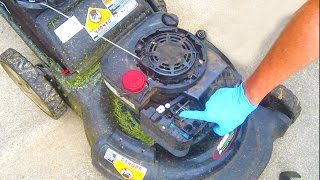 Lawn Mower REPAIR Auto Choke Briggs and Stratton Sears Craftsman fix engine won't start spring