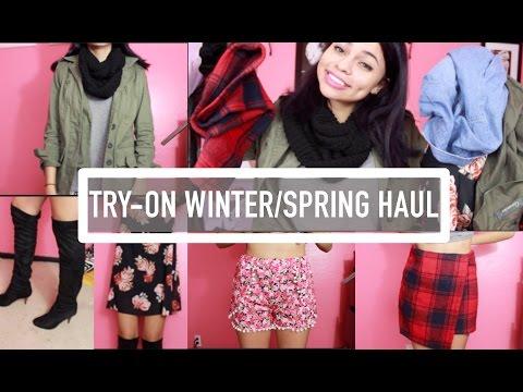 6ef06842000b Try On Winter Spring Haul CHOIES SHEINSIDE SAMMYDRESS TWINKLEDEALS play