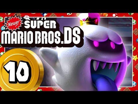 NEWER SUPER MARIO BROS. DS Part 10: Böse Überraschung! König Buu Huu Custom Boss!