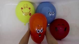Лопаем шарики с водой Изучаем цвета
