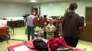 Children visit with Santa at Carter County Jail
