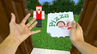 REALISTIC MINECRAFT - STEVE ORDERS PIZZA