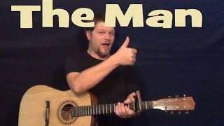 The Man (Aloe Blacc) Easy Strum Guitar Lesson How to Play Tutorial