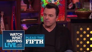 Seth MacFarlane Dishes On Christina Aguilera, Oscars, and Charlize Theron | Plead The Fifth | WWHL | Kholo.pk