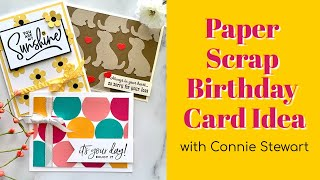 🔴 Paper Scrap Birthday Card Idea